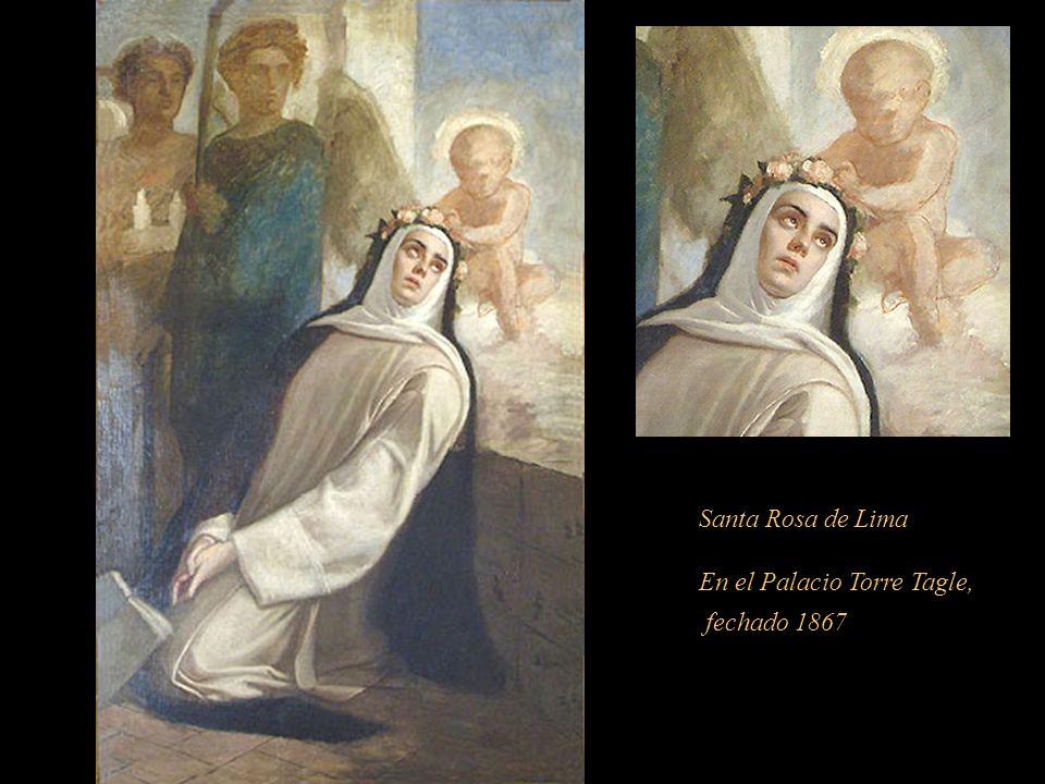 Santa Rosa en los fondos.............................. En el libro: Breve Historia del Arte en el Perú -La Pintura Precolombina, Colonial y Republican