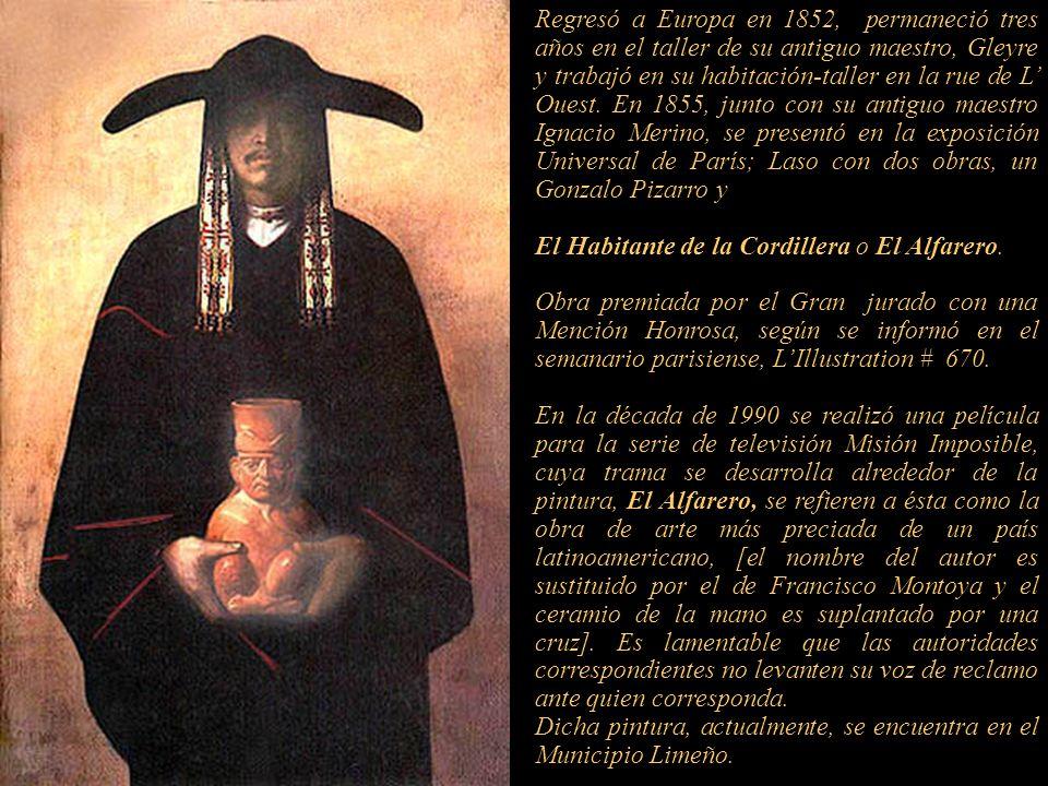 Regresó al Perú en 1849 y estableció un taller en el centro de Lima en la calle Gremios. Se dedicó a viajar por la sierra peruana tomando apuntes que