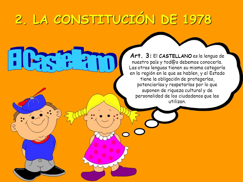 Artículo 2º: La Constitución se fundamenta en la indisoluble unidad de la Nación Española, patria común e indisoluble de todos los españoles, y que re