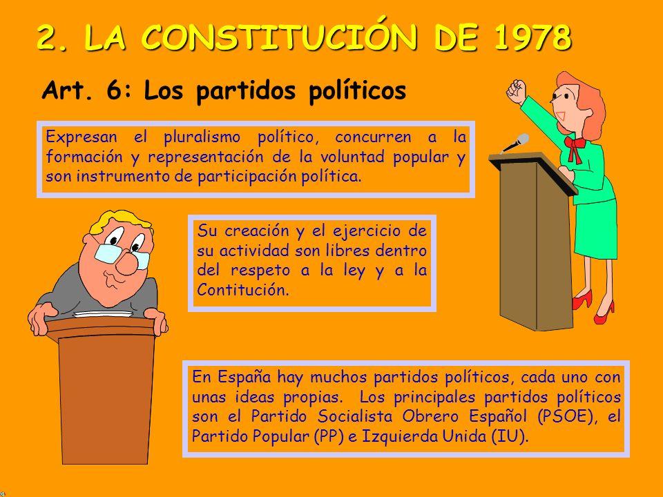 Art. 5º: LA CAPITAL DE ESPAÑA es: 2. LA CONSTITUCIÓN DE 1978