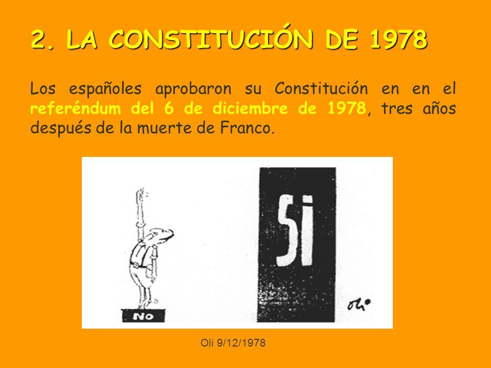 Los españoles aprobaron su Constitución en en el referéndum del 6 de diciembre de 1978, tres años después de la muerte de Franco.