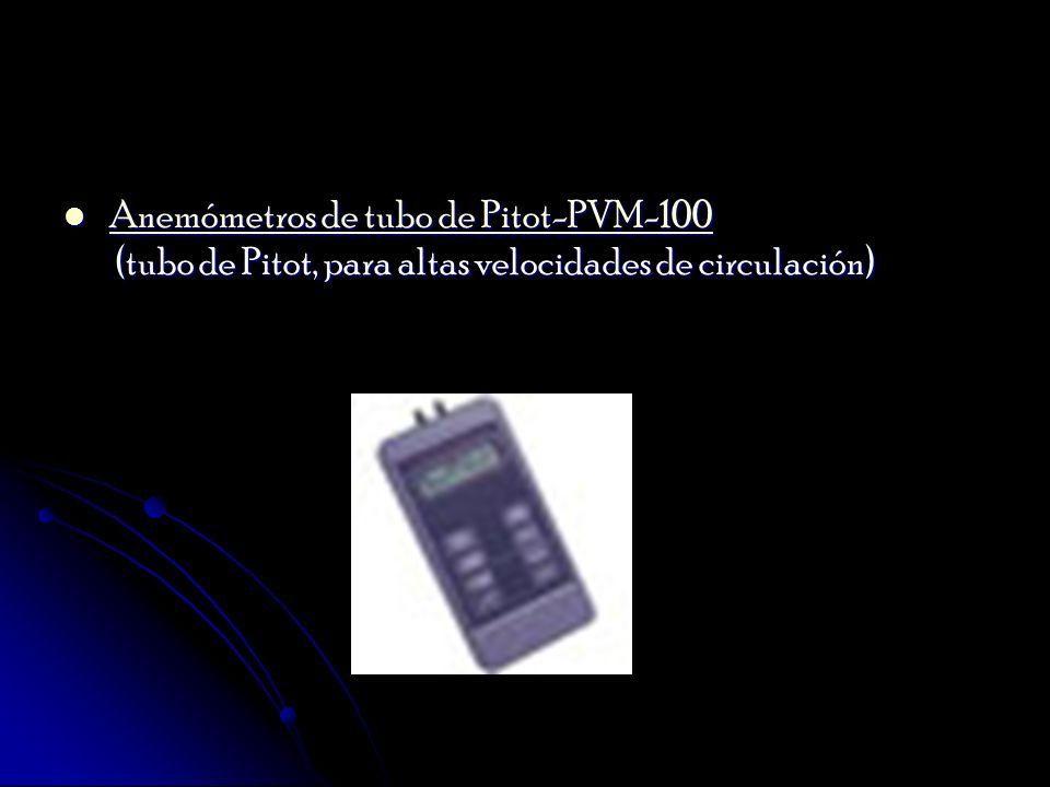 Anemómetros de tubo de Pitot-PVM-100 (tubo de Pitot, para altas velocidades de circulación) Anemómetros de tubo de Pitot-PVM-100 (tubo de Pitot, para
