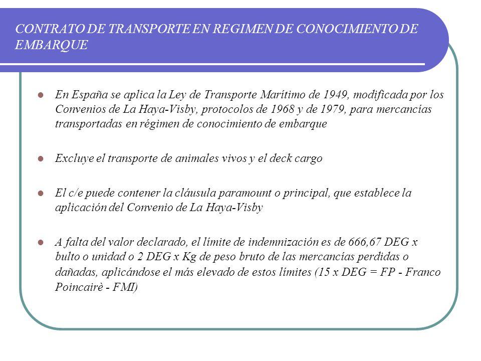 el contrato de transporte maritimo: