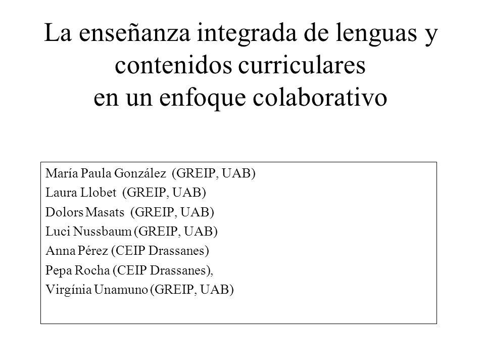María Paula González (GREIP, UAB) Laura Llobet (GREIP, UAB) Dolors Masats (GREIP, UAB) Luci Nussbaum (GREIP, UAB) Anna Pérez (CEIP Drassanes) Pepa Roc