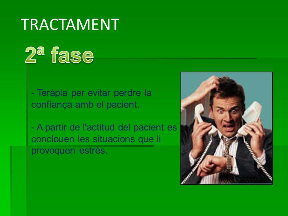 TRACTAMENT - Teràpia per evitar perdre la confiança amb el pacient.