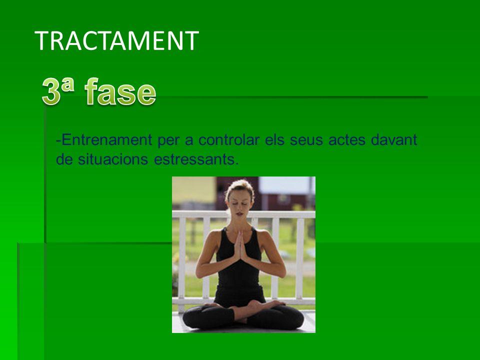 TRACTAMENT -Entrenament per a controlar els seus actes davant de situacions estressants.