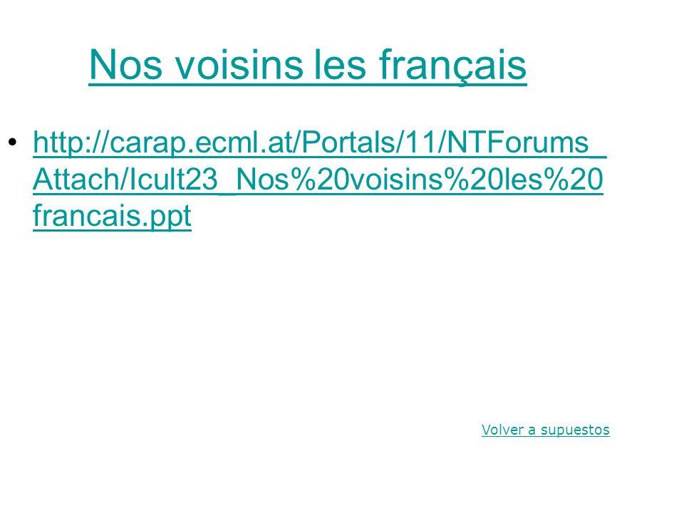 Nos voisins les français http://carap.ecml.at/Portals/11/NTForums_ Attach/Icult23_Nos%20voisins%20les%20 francais.ppthttp://carap.ecml.at/Portals/11/N