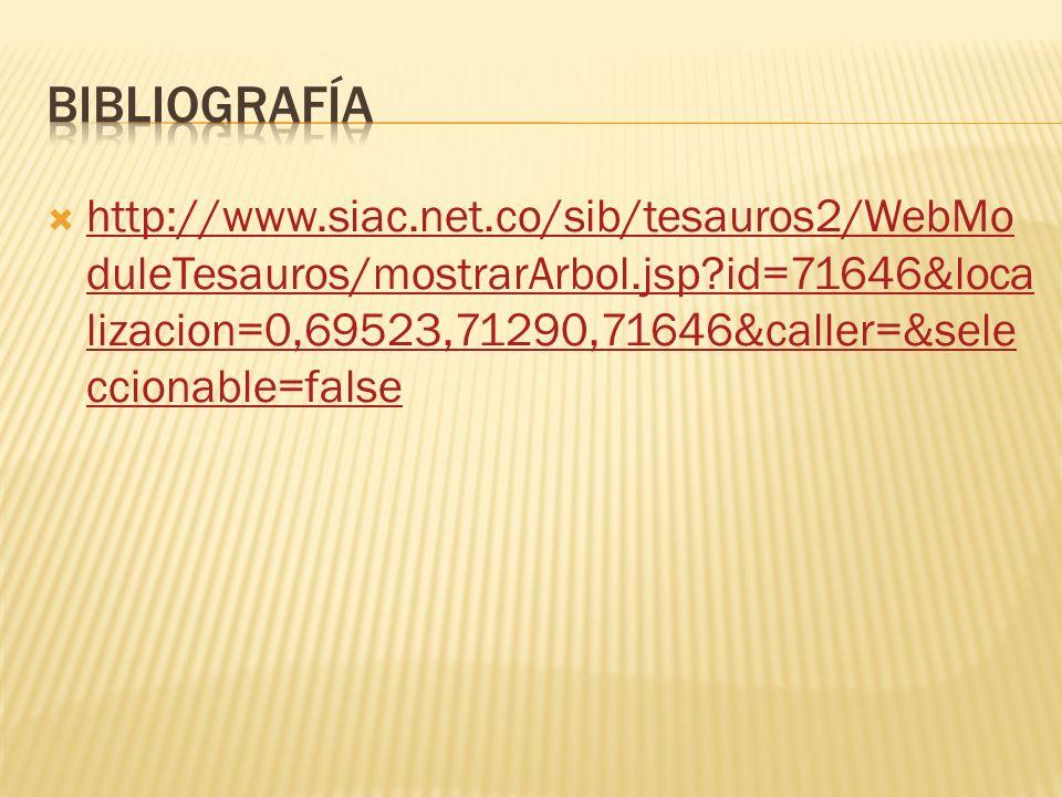 http://www.siac.net.co/sib/tesauros2/WebMo duleTesauros/mostrarArbol.jsp?id=71646&loca lizacion=0,69523,71290,71646&caller=&sele ccionable=false http: