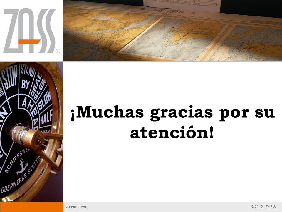 © 2012 ZASS zassnet.com ¡Muchas gracias por su atención!