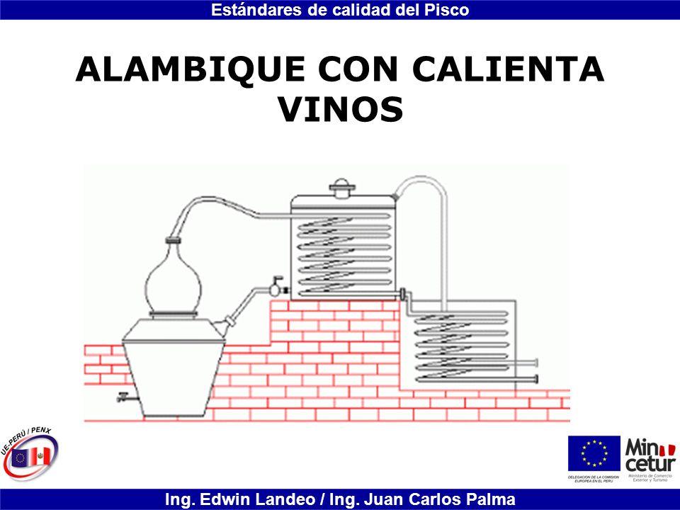 Estándares de calidad del Pisco Ing. Edwin Landeo / Ing. Juan Carlos Palma ALAMBIQUE CON CALIENTA VINOS