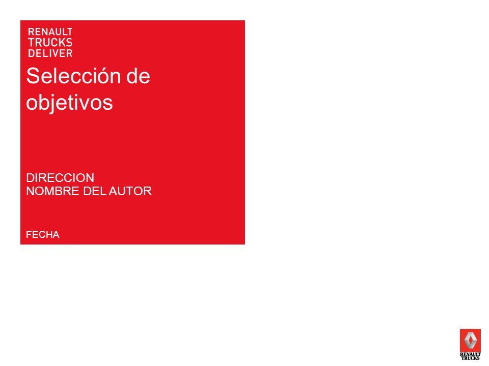 Selección de objetivos FECHA DIRECCION NOMBRE DEL AUTOR