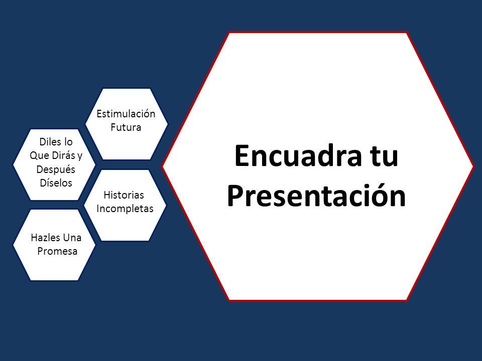 Encuadra tu Presentación Diles lo Que Dirás y Después Díselos Estimulación Futura Historias Incompletas Hazles Una Promesa