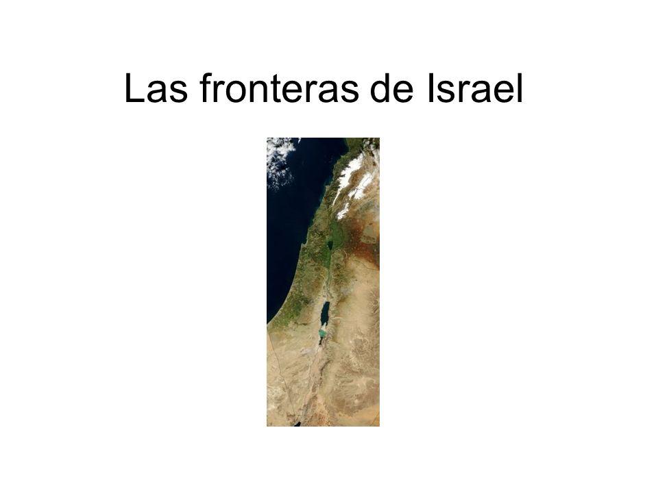 Las fronteras de Israel