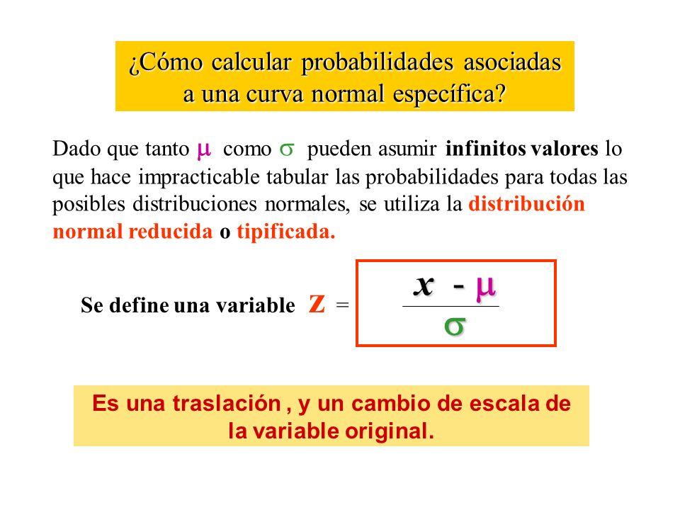 ¿Cómo calcular probabilidades asociadas a una curva normal específica? Dado que tanto como pueden asumir infinitos valores lo que hace impracticable t