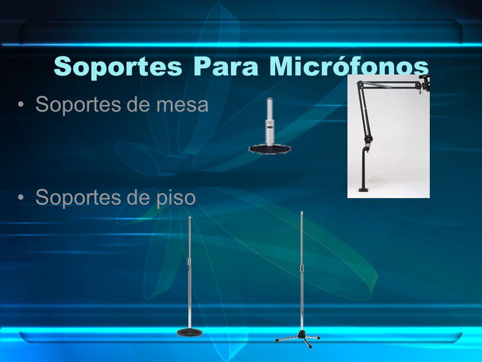Soportes Para Micrófonos Soportes de mesa Soportes de piso