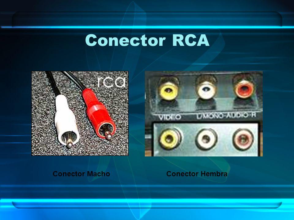 Conector RCA Conector Macho Conector Hembra