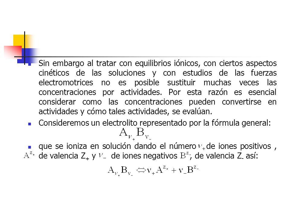 Al sustituir este valor en la ecuación de potencial de celda (45): Todas las cantidades del lado izquierdo de la ecuación (46) son determinables experimentalmente y por lo tanto se calcula cuando se conoce el valor del potencial normal.
