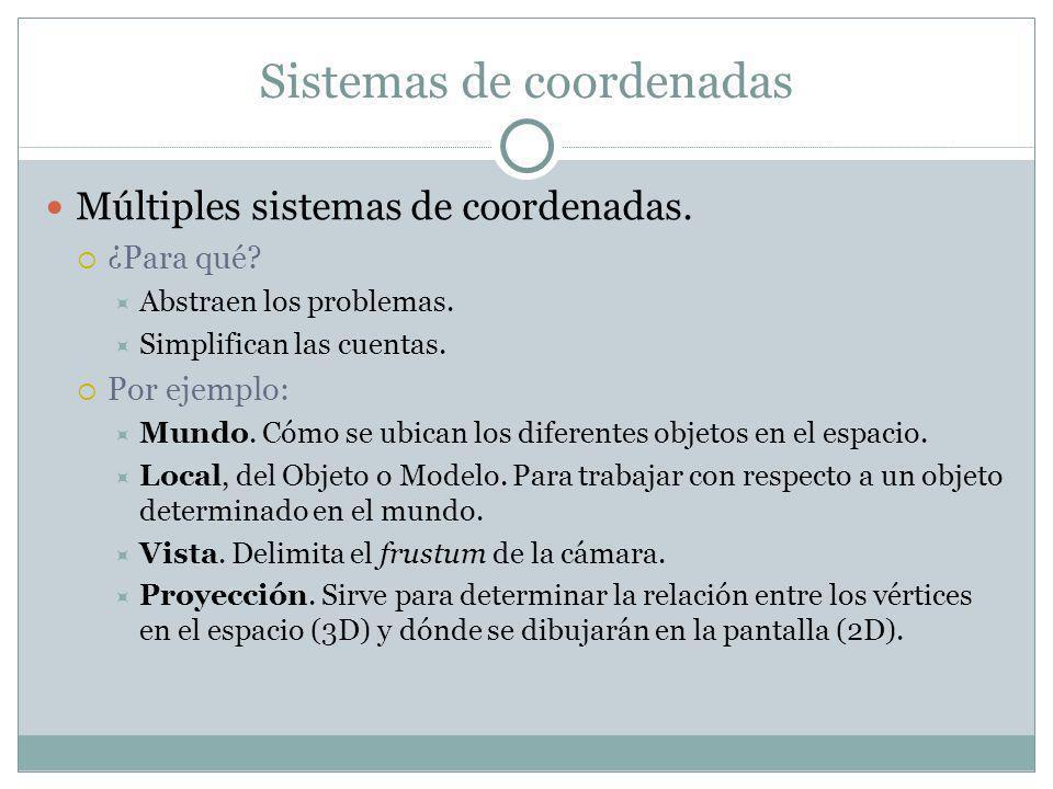 Sistemas de coordenadas Múltiples sistemas de coordenadas.