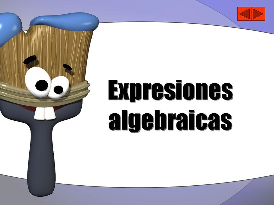 Ejemplos de Expresiones Algebraicas 4x 2 + 5x + 1 x 2 - 10 2x -5x 3 - x 2 + 4x