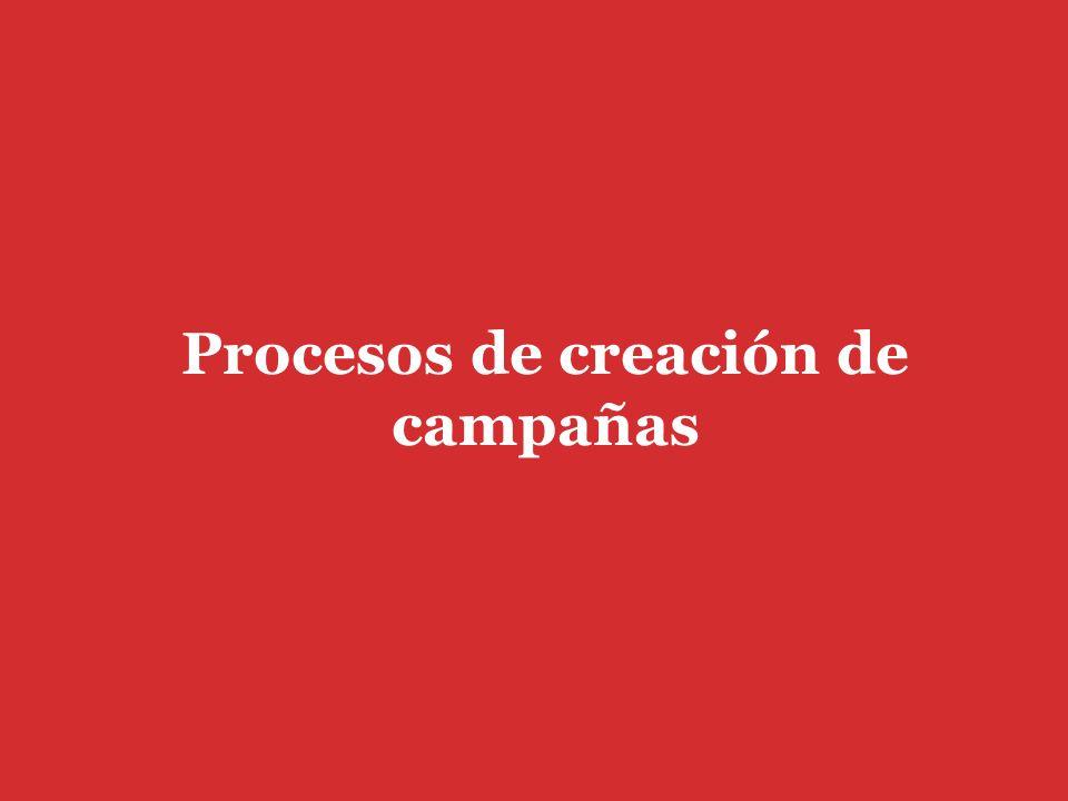 Procesos de creación de campañas