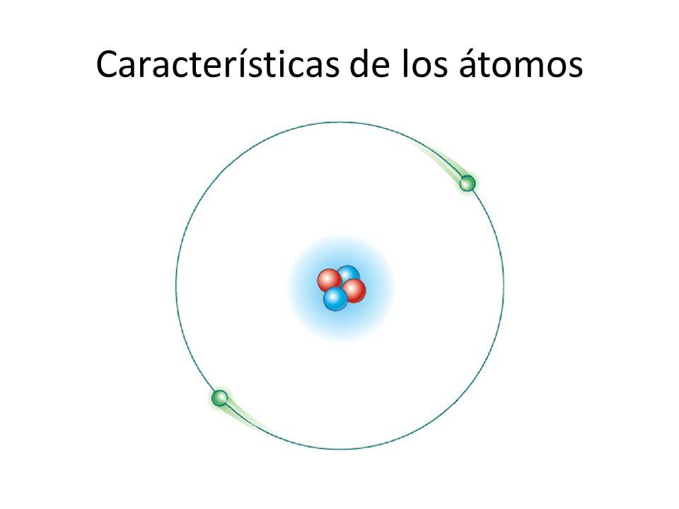 Características de los átomos