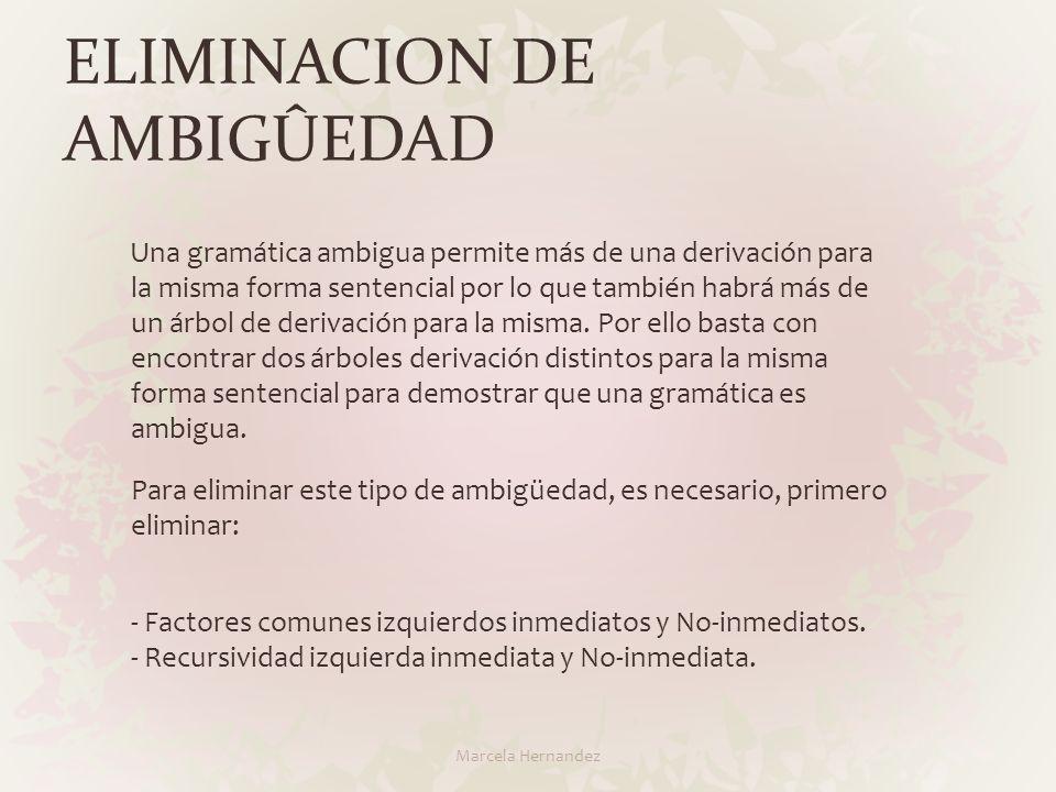 ELIMINACION DE AMBIGÛEDAD Marcela Hernandez
