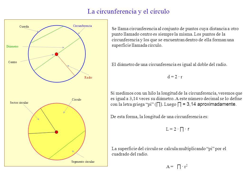 Cálculo de las Áreas de figuras planas Área del triángulo Área del cuadrado a b l Área del rectángulo a b Área del rombo D d Área del romboide b a Áre