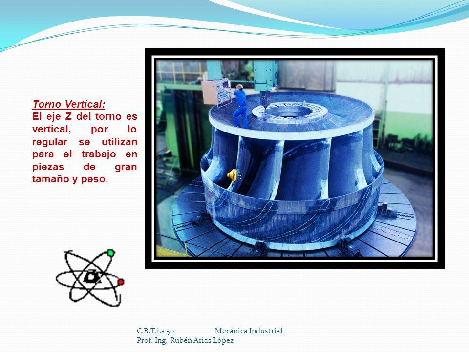 C.B.T.i.s 50 Mecánica Industrial Prof. Ing. Rubén Arias López Módulo I Maquinar piezas por desprendimiento de viruta en máquinas de 1 y 2 ejes. Submód