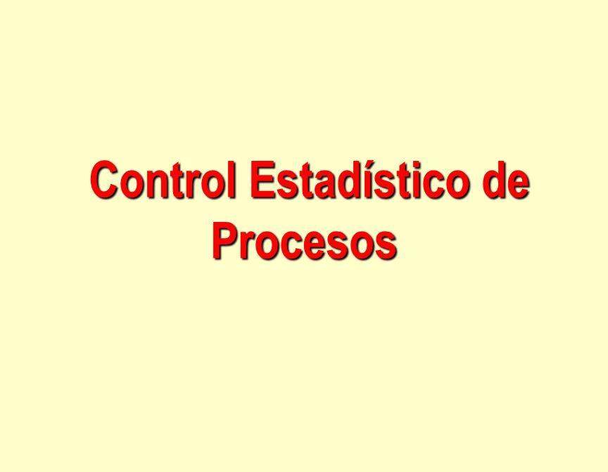 Control Estadístico de Procesos Control Estadístico de Procesos