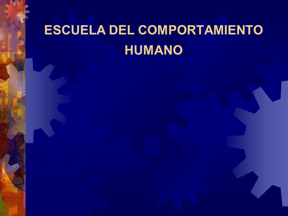 ESCUELA DEL COMPORTAMIENTO HUMANO