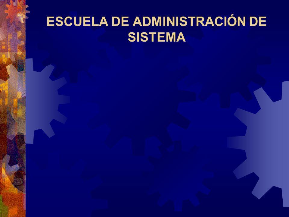 ESCUELA DE ADMINISTRACIÓN DE SISTEMA