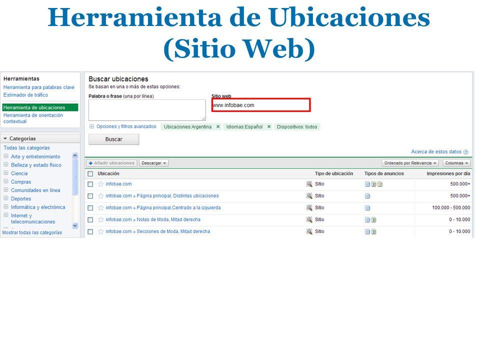 Herramienta de Ubicaciones (Sitio Web)