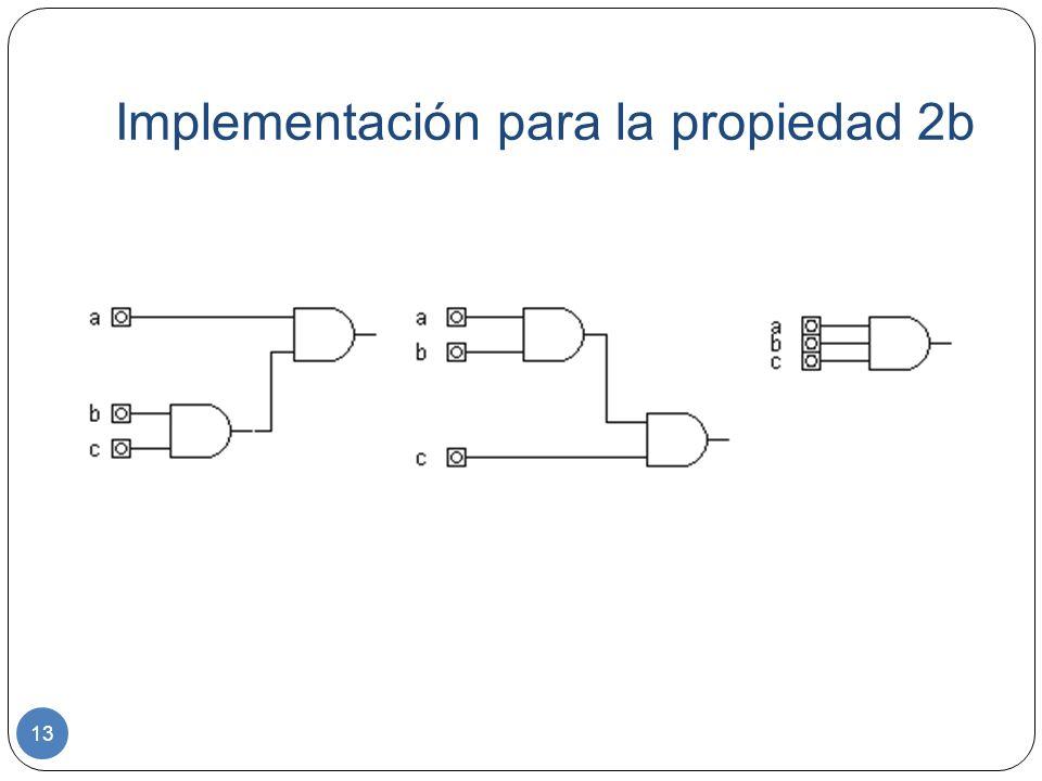 Implementación para la propiedad 2b 13