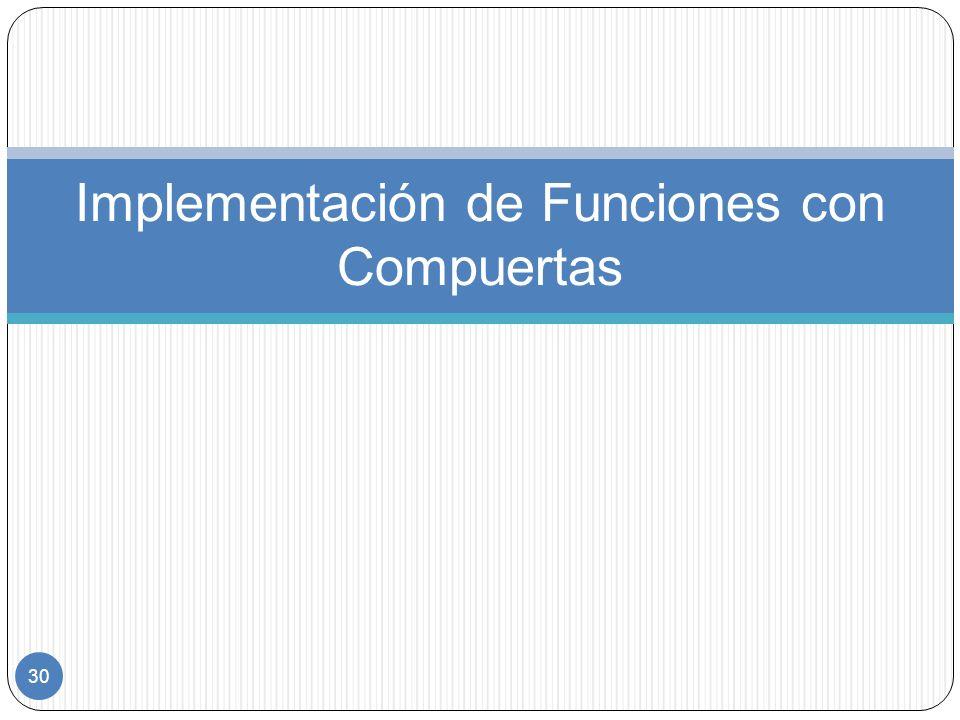 30 Implementación de Funciones con Compuertas