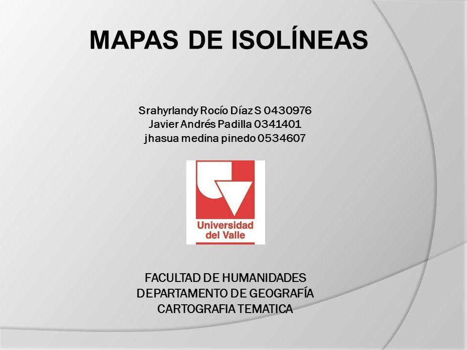 Las isolíneas son curvas que se representan en el mapa cuya característica es separar la zonas que tengan distintos valores determinada variable.