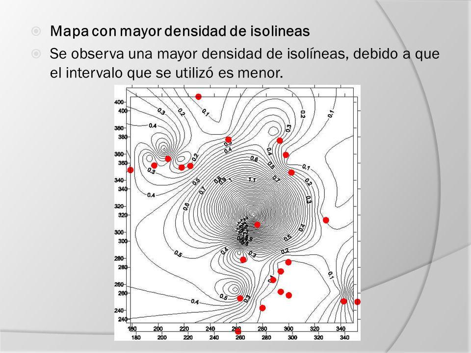 Uso de los mapas de isolíneas Los mapas de isolíneas sirven para proporcionar una visión global de la configuración de la superficie estadística, y para representar la localización de una serie de cantidades.