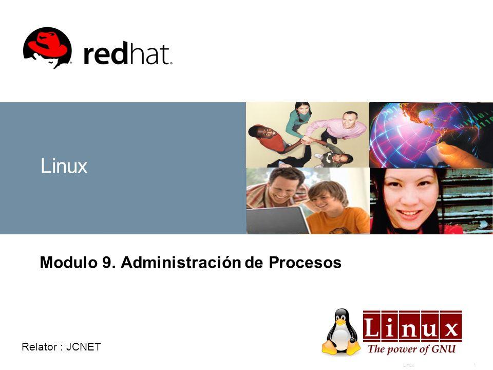Linux1 Modulo 9. Administración de Procesos Relator : JCNET