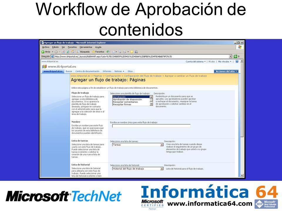 Workflow de Aprobación de contenidos
