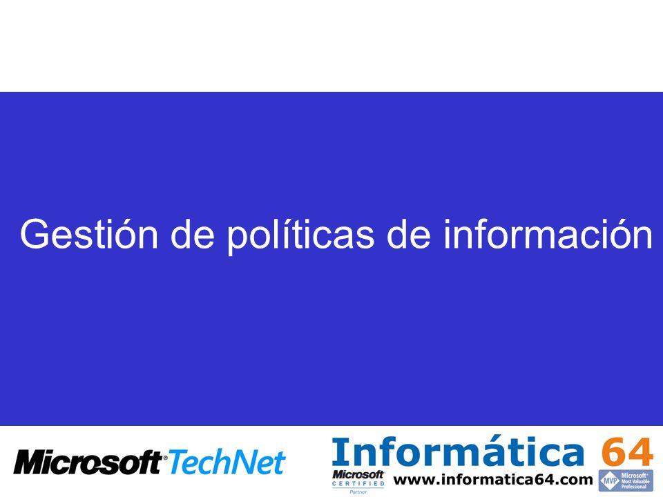 Gestión de políticas de información