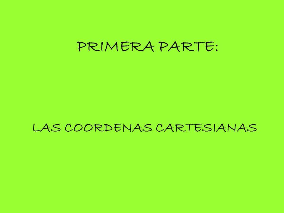PRIMERA PARTE: LAS COORDENAS CARTESIANAS