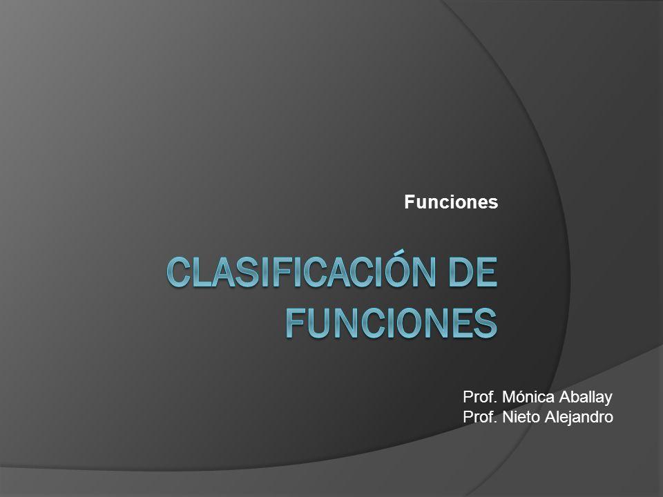 Funciones Prof. Mónica Aballay Prof. Nieto Alejandro