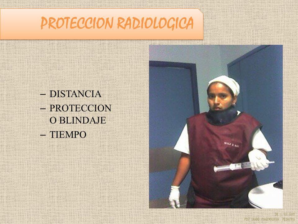 DR. J. YEE GUIM POST GRADO IMAGENOLOGIA - PEDIATRIA PROTECCION RADIOLOGICA – DISTANCIA – PROTECCION O BLINDAJE – TIEMPO