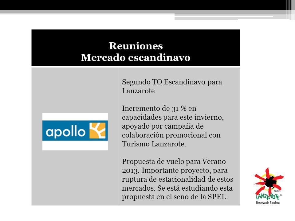 Reuniones Mercado escandinavo Segundo TO Escandinavo para Lanzarote. Incremento de 31 % en capacidades para este invierno, apoyado por campaña de cola