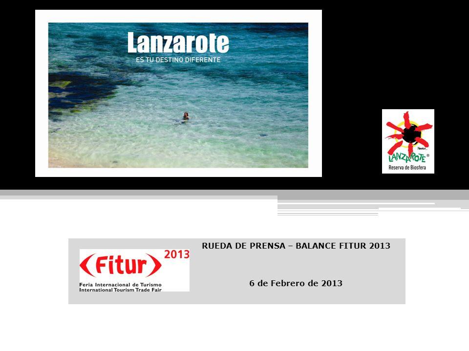 RUEDA DE PRENSA – BALANCE FITUR 2013 6 de Febrero de 2013