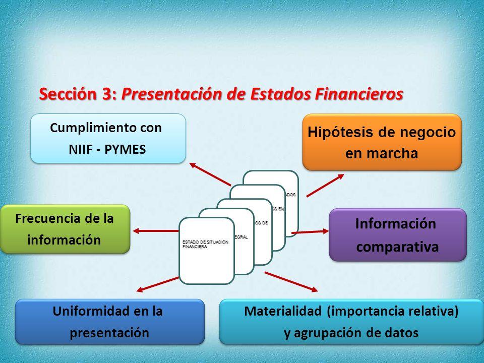 Activos Patrimonio Pasivos Relación entre: SITUACIÓN FINANCIERA Sección 4: Estado de Situación Financiera