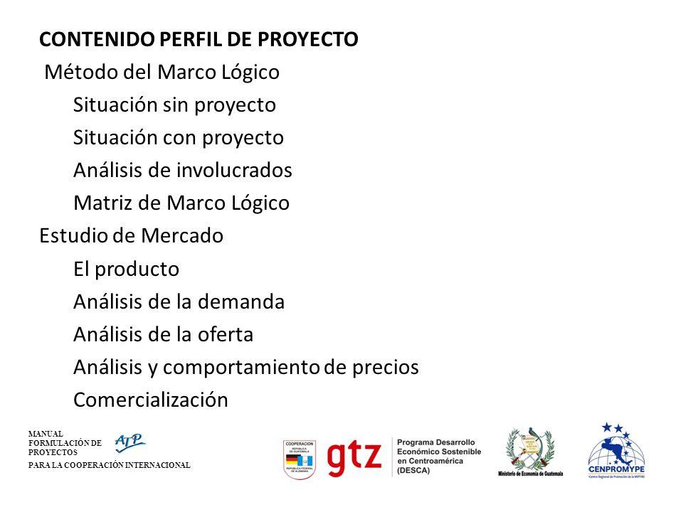 MANUAL FORMULACIÓN DE PROYECTOS PARA LA COOPERACIÓN INTERNACIONAL Resumen ejecutivo Descr.