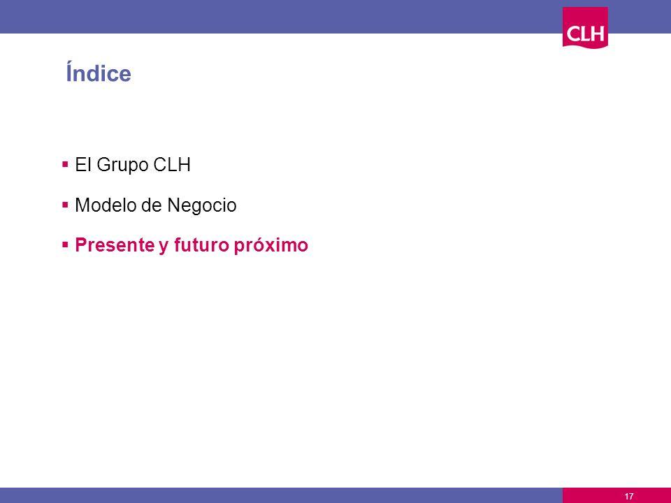 17 Índice El Grupo CLH Modelo de Negocio Presente y futuro próximo