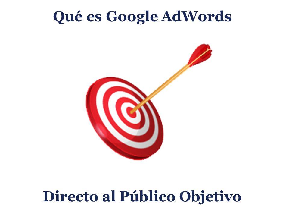 Qué es Google AdWords Directo al Público Objetivo