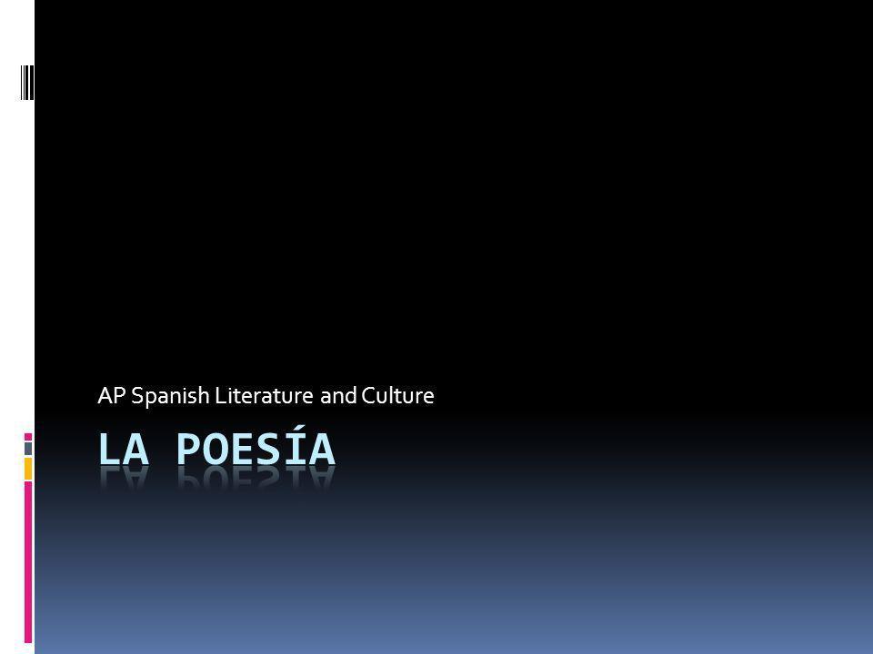 Lectura y análisis Clases de poesía El lenguaje poético El uso del lenguaje poético El fin de los recursos literarios El vocabulario poético Formas de poesía