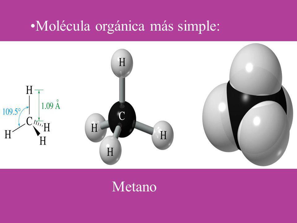 Molécula orgánica más simple: Metano